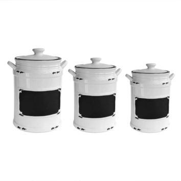 Vintage 3-piece Canister Set | Overstock.com Shopping - The Best Deals on Storage Canisters