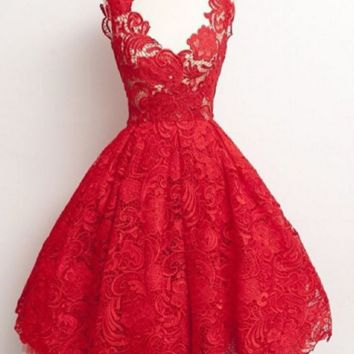 HOT LACE PROM DRESS