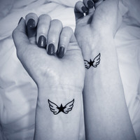 2pcs Angel's Wings star tattoo - InknArt Temporary Tattoo - wrist quote tattoo body sticker fake tattoo wedding tattoo small tattoo