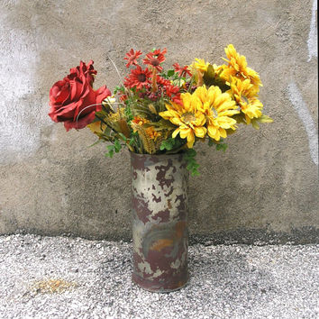 Large Table Vase, Table Centerpiece, Industrial Decor, Bachelor Pad Decor, Shabby Chic Vessel