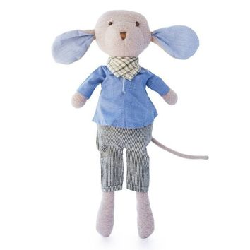 Oliver Mouse Organic Doll in Engineering Outfit