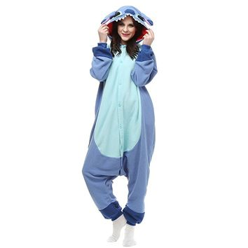 Unisex-Adult Onesuit Pajamas Kigurumi Animal Sleepwear For Halloween Party Costumes Cartoon