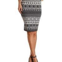 Tribal Print Pencil Skirt by Charlotte Russe