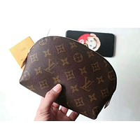 LV Louis Vuitton Fashion Zipper Toiletry Handbag Cosmetic Bag Purse Wallet I-MYJSY-BB