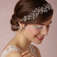 gorgeous crystal Wedding Silver bride headdress fashion crystal bridal head band wedding hair jewelry accessory