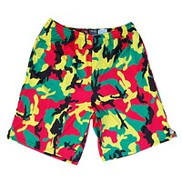 Rasta Camo Sublimated Lacrosse Shorts