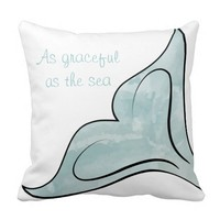 Reversible Watercolor Whale Tail