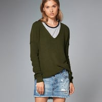 Womens Shaker Ribbed V-Neck Sweater | Womens New Arrivals | Abercrombie.com