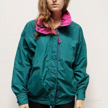 COLUMBIA neon BUGAGOO ski hyper color contrast color block 90s jacket coat