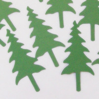 Card Stock Die Cut Country Christmas Trees
