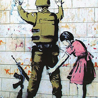 Girl Searching Soldier Banksy Fine Art Print Poster