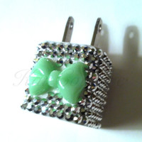 3D Bling Rhinestone Bow Phone Charger for by KaiCoutureCases