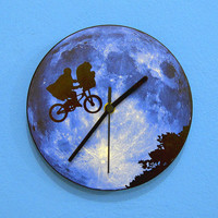 Blue Moon ET - Wall Clock