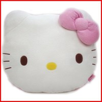 HELLO KITTY FACE PILLOW CUSHION (15INCH*12INCH)