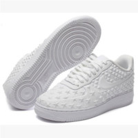 NIKE Women Men Running Sport Casual Shoes Sneakers Air force Low tops Stars print White