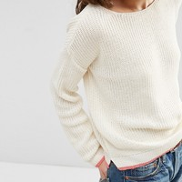ASOS Ultimate Chunky Sweater With Tipping