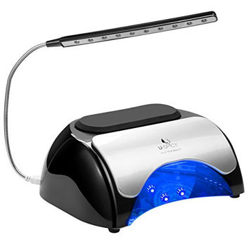 48W LED UV Nail Dryer Lamp for Gel Polish Automatic Sensor Pulldown Cover Light