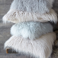 Mongolian Wool Pillow - Gray