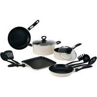 Walmart: Wearever 12-Piece Grip Right Non-Stick Cookware Set, Vanilla