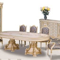 Luxury furniture. Venetian Hand painted high style dining set