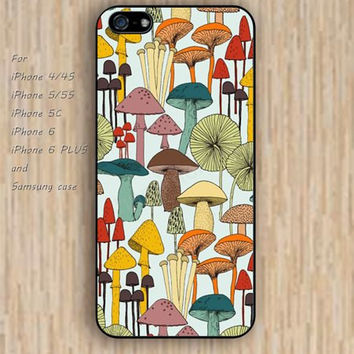 iPhone 5s 6 case cartoon mushrooms pattern colorful phone case iphone case,ipod case,samsung galaxy case available plastic rubber case waterproof B550