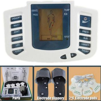 Muscular Body Massager Pulse Tens Acupuncture Therapy Set