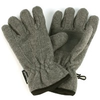 Boys Winter Ages 4-8 Fleece Ski 3M Thinsulate Waterproof Snow Gloves Gray M/L