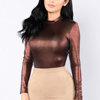 Rock That Body Bodysuit - Rust Foil