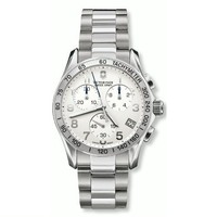 Victorinox Swiss Army Men's 241315 Chrono Classic Silver-Tone Dial Watch