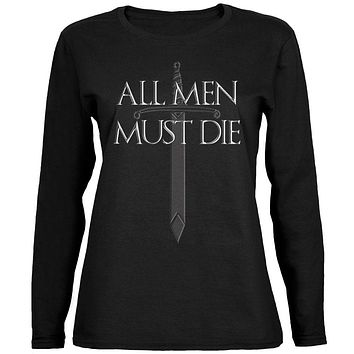 All Men Must Die Medieval Sword Ladies' Relaxed Jersey Long-Sleeve Tee