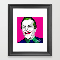 Pop Joker: Nicholson Framed Art Print by Jonartdesigns