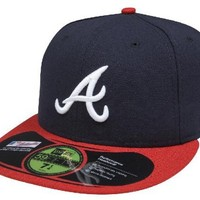 MLB Atlanta Braves Home AC On Field 59Fifty Fitted Cap-714