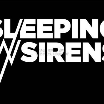 MUSIC BAND GROUP LOGO SLEEPING SIRENS BLACK WHITE TEXT HARDCORE 18X24'' POSTER ART PRINT LV10279