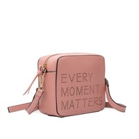 Every Moment Matters Crossbody Purse Blush
