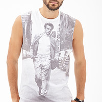 James Dean Muscle Tee White/Black