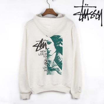 Stussy Unisex Casual Top Sweater Pullover Hoodie-2