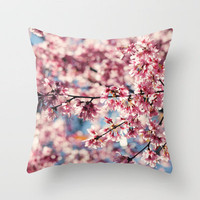 Painting the Town Pink Throw Pillow by Beth - Paper Angels Photography | Society6