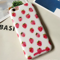 Original Strawberry iPhone 7 se 5s 6 6s Plus Case Cover + Gift Box 309