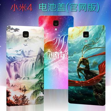 """Cool Attack on Titan For xiaomi mi 4 mi4 mobile phone battery cover 5.0"""" Japanese anime battery back cover """" / Gintama / one Piece """" AT_90_11"""