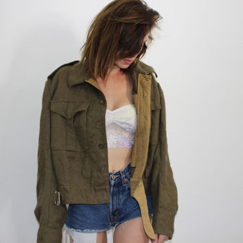 Vintage Cropped Army Jacket