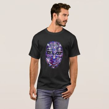 Urban Tribal Stylized Face Design T-Shirt