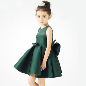 Prom Dress Wine Red Green Children Princess Dress [4919225924]