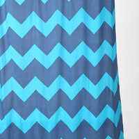 Tonal Zigzag Shower Curtain