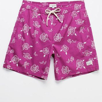DCCKJH6 Modern Amusement Benko '70s Floral 17' Swim Trunks