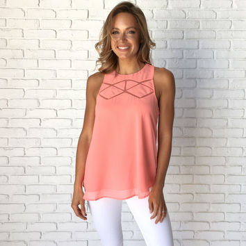 Traverse Blouse In Coral