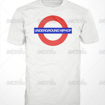 Underground Hip hop Tee - Real hip hop, independant, krs, rza, ra rugged man, eminem, celph, blu, dj premier, wu, mixtapes