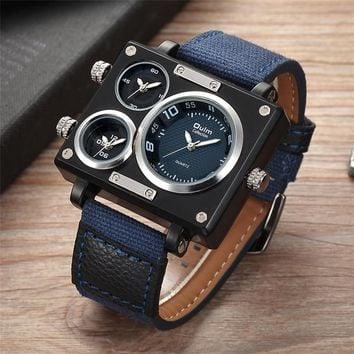Men's Square Watch  Watch three dials