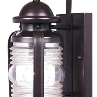Weatherby One-Light Outdoor Wall Lantern, Weathered Bronze Finish on Steel with Clear Glass