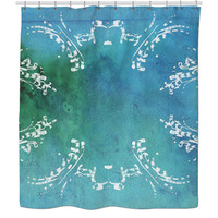 Turquoise Psychedelic Shower Curtain