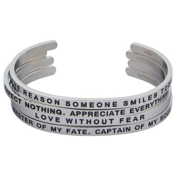 Inspirational Cuff Bracelets, The Personal Journey Series